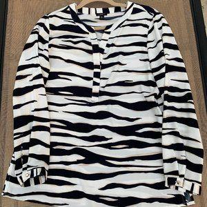 Ann Taylor Colorful Striped Tunic Blouse Sz 10P